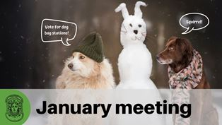 January members' meeting: Tues, Jan 28, 7-8pm Hope Lutheran Church.